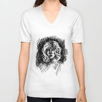 salt water V-neck T-shirts featuring Salt by Kate Plourde