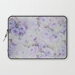Vintage lavender gray botanical roses floral Laptop Sleeve
