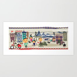 SAPA VILLAGE LIFE Art Print