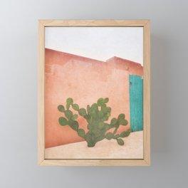 Strong Desert Cactus Framed Mini Art Print