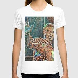 Iron Man Tony Stark Artistic Illustration Wires Style T-shirt