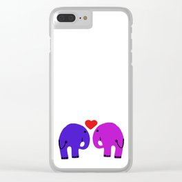 elephants. love. Clear iPhone Case