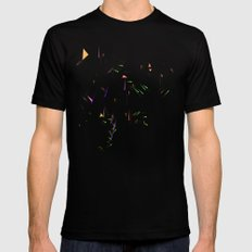 Pattern Black Mens Fitted Tee LARGE