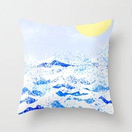 Light blue ocean  Throw Pillow