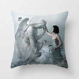 Comforting Angels Throw Pillow