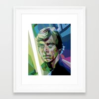 luke hemmings Framed Art Prints featuring Luke by iankingart