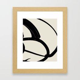 Mono Brush 1 Framed Art Print