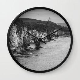 Scotland Cliffs Wall Clock