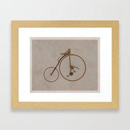 Antique High Wheel Bicycle Framed Art Print