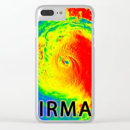 I survived hurricane Irma Clear iPhone Case