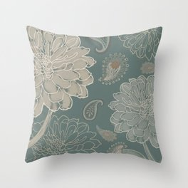 Cocoa Paisley VI Throw Pillow