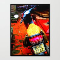moto Canvas Prints featuring Moto by Loady
