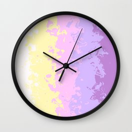 Abstract Geometric design with Unicorn Colors Wall Clock