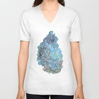 watercolour V-neck T-shirts featuring Friday Afternoon by Marcelo Romero