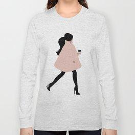 Bubble Coat Illustration by Sabina Fenn Long Sleeve T-shirt