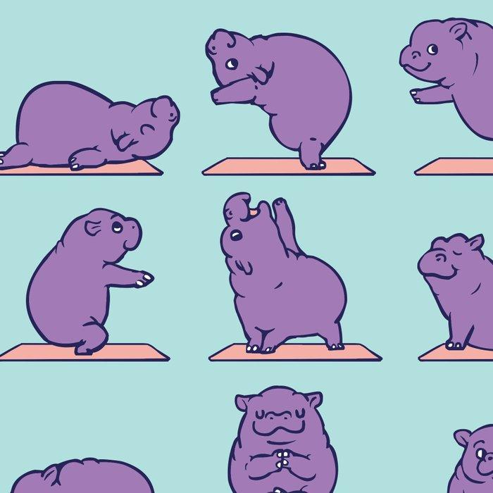 Baby Hippo Yoga Leggings