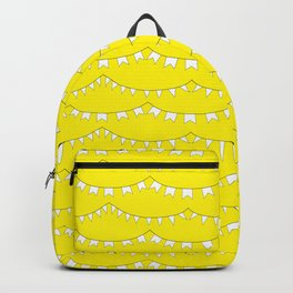 Flag Banner Illustration in Happy Yellow and White Backpack