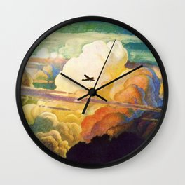 Catmota - N.C. Wyeth Wall Clock