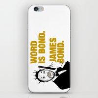 james bond iPhone & iPod Skins featuring Word is bond. James Bond. by Chris Piascik