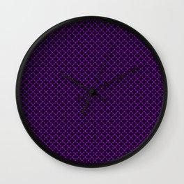 Purple Geometric Pattern Wall Clock