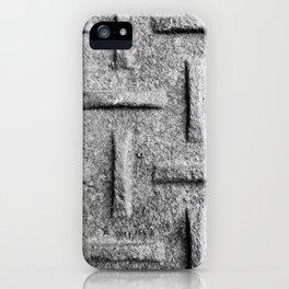 B&W Emboss iPhone Case