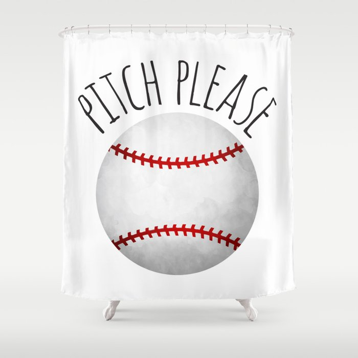 Pitch Please Shower Curtain