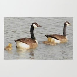 Canadian Geese Family Rug