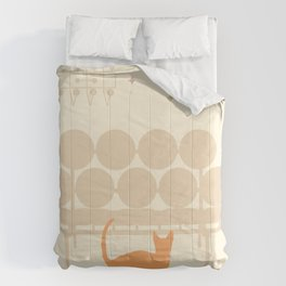 Mid Mod Cat Comforters