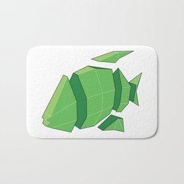 Illustration of a 3D Paper Craft Fish Model Bath Mat