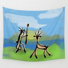Cave Painting Wall Tapestry