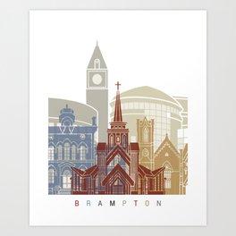 Brampton skyline poster Art Print