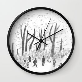 Madison Square Park Sketch #2 Wall Clock