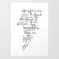 dumbledore Art Prints featuring Happiness - Dumbledore  by Hayley Lang