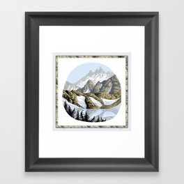 AN ALPINE LAKE Framed Art Print