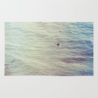 surf Area & Throw Rugs featuring Surf by Hannah Kemp