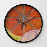 cocktail Wall Clocks featuring Cocktail by Angella Meanix