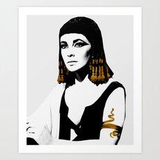 black & gold Cleo Art Print