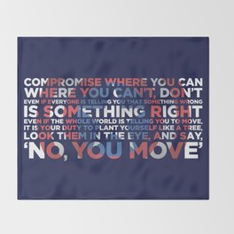 Civil War Quote Throw Blanket