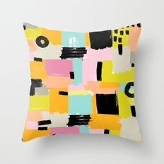 Color section001 Throw Pillow
