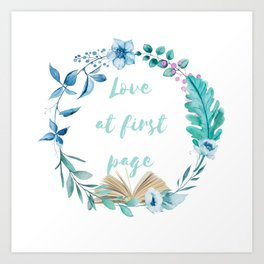 Summer Love at First Page Art Print