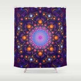 """""""Guardian"""" Mandala painting Shower Curtain"""