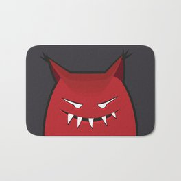 Evil Monster With Pointy Ears Bath Mat