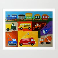 cars Art Prints featuring Cars  by MNA Art And Graphics