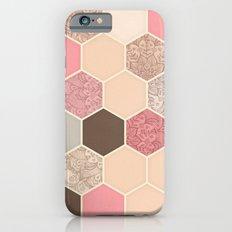 Caramel, Cocoa, Strawberry & Cream Hexagon & Doodle Pattern iPhone 6 Slim Case