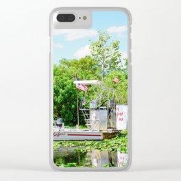 Everglades Safari Boat Clear iPhone Case