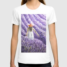 Girl on Lavenders Field T-shirt