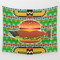 alaska Wall Tapestries featuring Alaska Burger by milanova