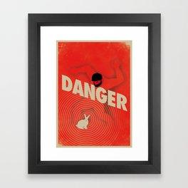 Danger Framed Art Print