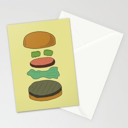 Burger Assembly Stationery Cards