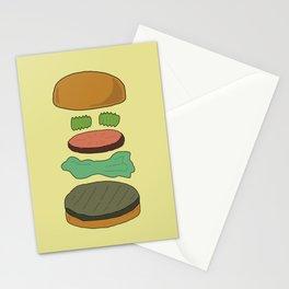 Burger Assembly Stationery Cards